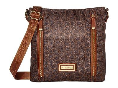 Calvin Klein Belfast Nylon Messenger (Brown/Khaki) Handbags
