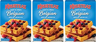 Krusteaz Light & Crispy Belgian Waffle Mix, No Artificial Flavors, Colors or Preservatives, Just Add Egg & Oil, 28-Ounce B...