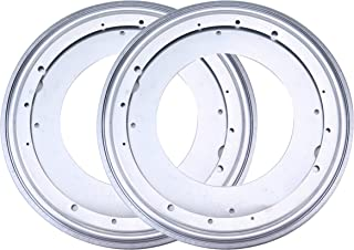 Fasmov 12-Inch Lazy Susan 5/16 Thick Turntable Bearings with 6 Rubber Pads, Pack of 2