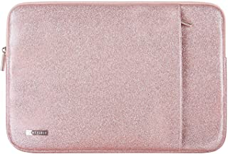 Comfyable 14 Inch Pink Glitter Laptop Sleeve for 15 Inch MacBook Pro 2019, Rose Gold