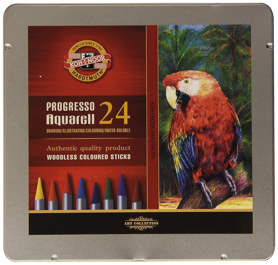 KOH-I-NOOR Progresso Woodless Aquarell Coloured Pencil Set (Set of 24)