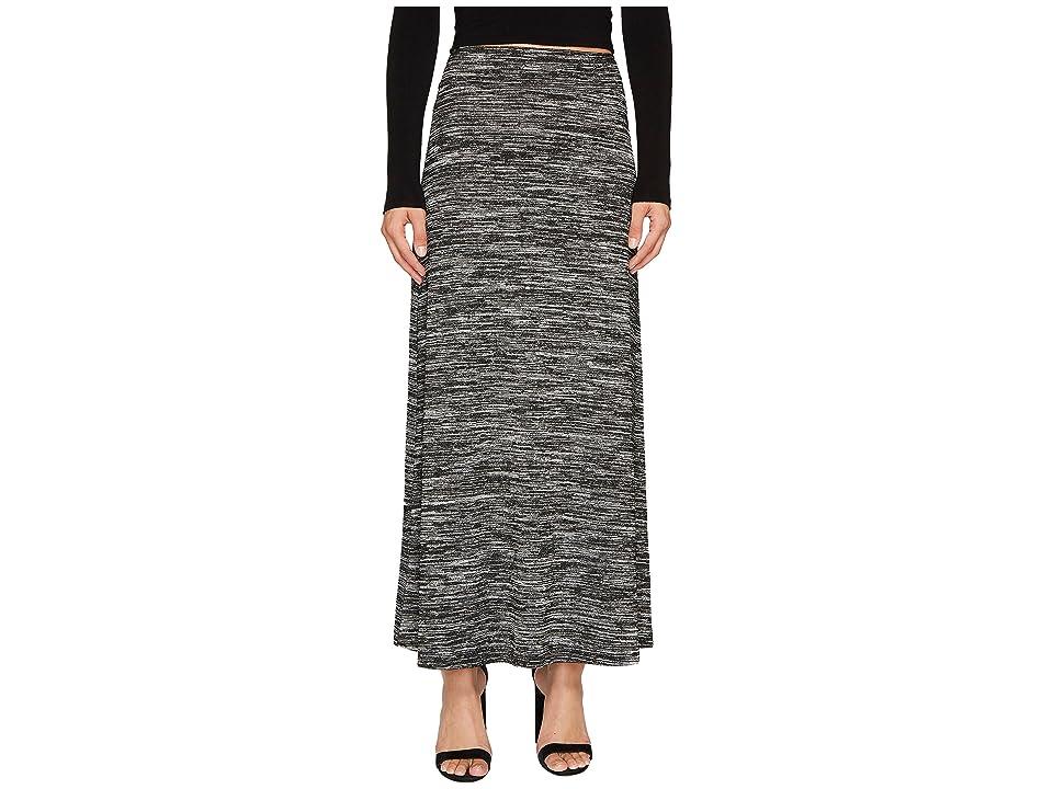 kensie Drapey Space Dye Maxi Skirt KS8K6S40 (Black Combo) Women