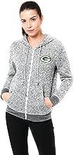 Ultra Game NFL Women's Full-Zip Hoodie Sweatshirt Marl Knit Jacket
