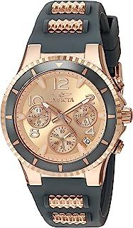 ساعت مچی کوارتز از جنس استیل ضد زنگ BLU Invicta با تسمه سیلیکون ، دو تن ، 1 (مدل: 24189)