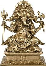 Panchmukhi Ganesha Holding a Trishul - Bronze Statue
