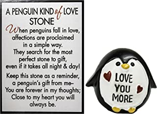 Ganz A Penguin Kind of Love Stone with Story Card (Love More)