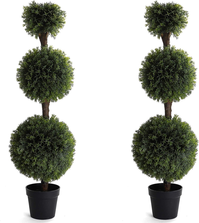 Max 85% OFF Bornbridge Artificial Cypress 2021new shipping free shipping Topiary Ball Bal 4' - Tree