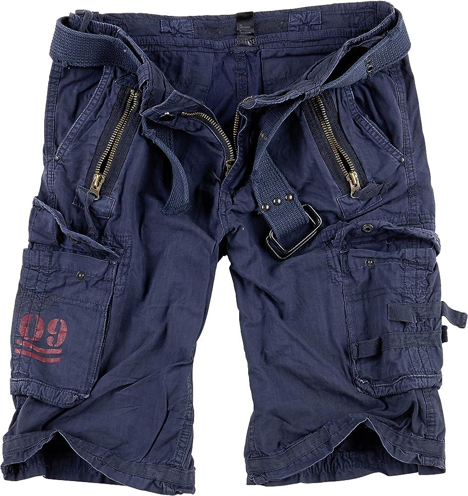 Surplus royal shorts pantaloncini royal green per uomo 100% cotone 07 5599 65A