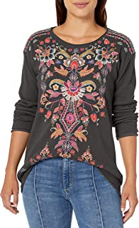 JWLA By Johnny Was Women's Cotton Embroidered Long Sleeve Thermal