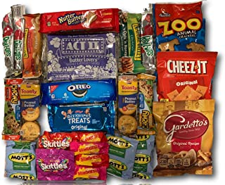 Sweet Salty & Savory Snacks Care Package by AtHomePlus (25 Item Count) --Perfect Gift for College Dorm, Military or Office!!