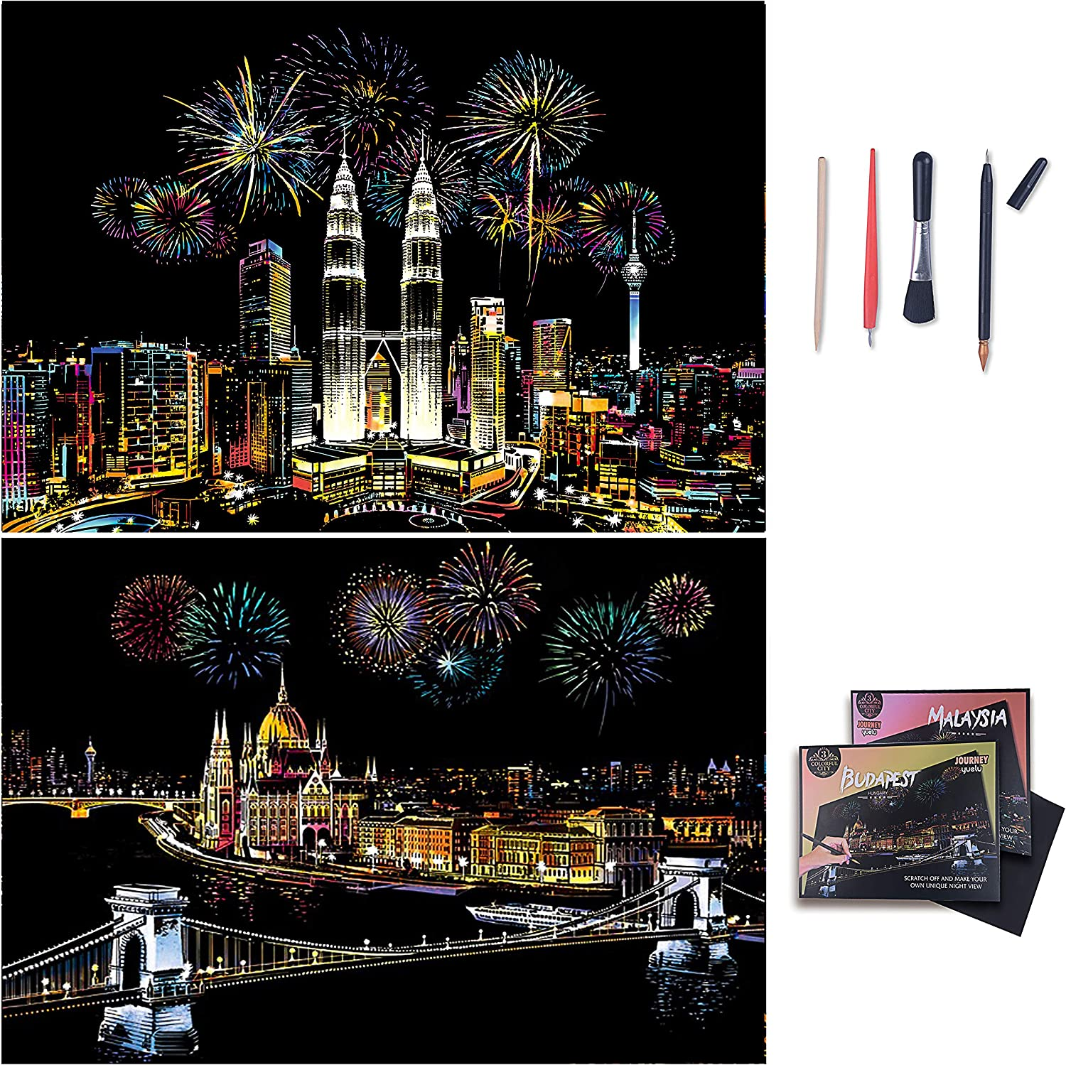 Liveda Scratch Paper Rainbow Painting Craft Pads DIY Art High quality Sketch NEW before selling