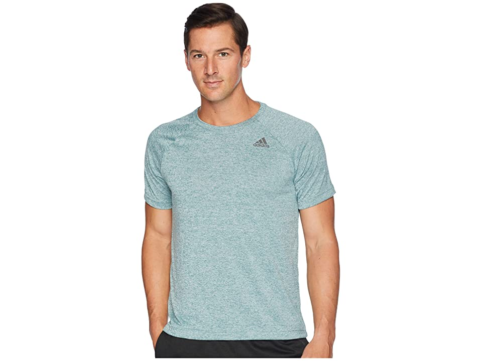 adidas Designed-2-Move Heather Tee (Noble Green) Men's T Shirt