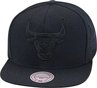Mitchell & Ness Chicago Bulls Snapback Hat All Black/1998 NBA Finals Patch