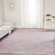 Safavieh Rag Rug Collection RAR125E Hand Woven Light Pink and Multi Cotton Area Rug (4' x 6')