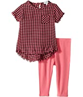 Splendid Littles - Yarn-Dyed Plaid Swing Top with Leggings Set (Infant)
