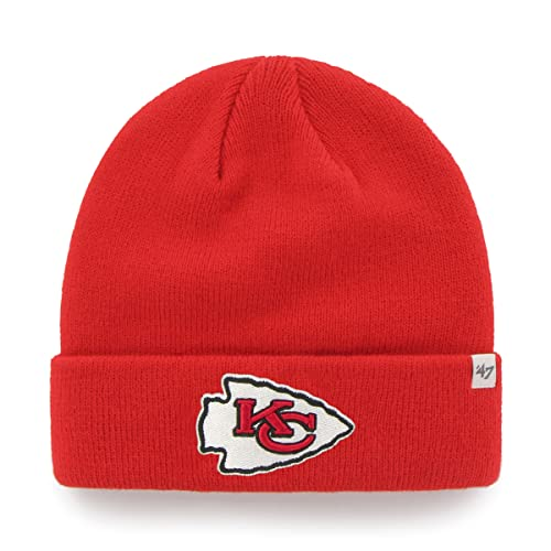 47 Brand Team Color Cuff Beanie Hat - NFL Cuffed Football Winter Knit  Toque Cap.   4c23fdd22f71
