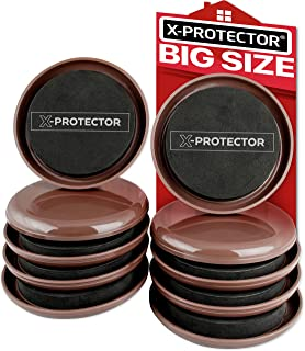 Furniture Sliders for Carpet X-PROTECTOR – Best 8-Pack 4 3/4 inch Heavy Moving Pads..