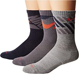 Dry Cushion Graphic Crew Training Socks 3-Pair Pack