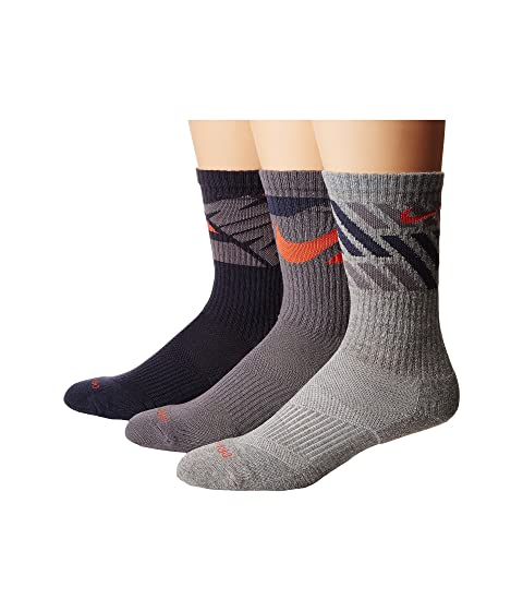 Nike Dry Cushion Graphic Crew Training Socks 3-Pair Pack Multicolor Exclusive Online 9iB6M76Q