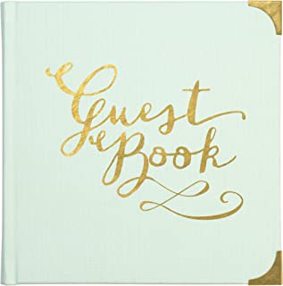 C.R. Gibson Mint Green and Gold All Occasion Guest Book, 1,000 Entries, 7