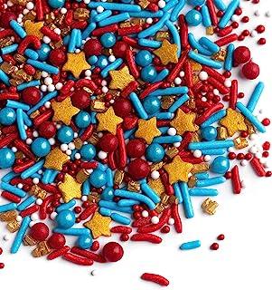 Sprinkles - Sprinklefetti -Marvelous Sprinkles - 4th of July - Red, Blue, Gold Stars - Gluten Free Sprinkles for Baking - ...