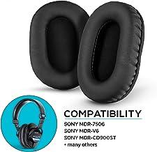 Brainwavz Earpads for Sony MDR 7506, Memory Foam, Compatible MDR V6, V7, CD900ST - Black