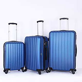 Travelite Luggage Trolley Bags for Unisex, 3 Piece, Blue010522M