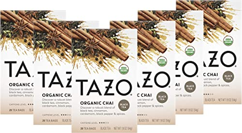 wholesale Tazo Tea Bags For a Warm outlet sale Spiced Chai Black Tea online sale Moderately Caffeinated Morning Drink 20 Tea Bags, Pack of 6 online
