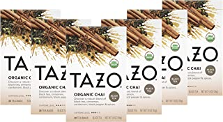 Tazo Organic Chai Tea Bags For a Warm Spiced Chai Black Tea Moderately Caffeinated Morning Drink 20 Tea Bags (Pack of 6, 2...