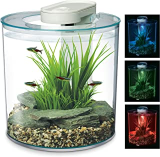 Marina 360 Aquarium with Remote Control LED Lighting, Multi-colour, 10 Litre