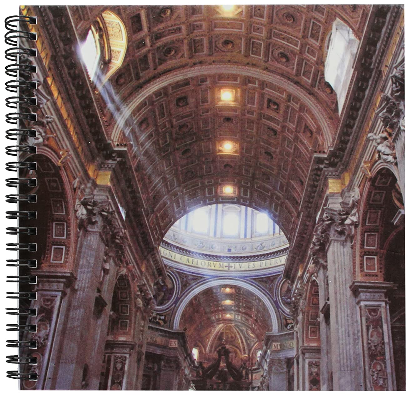 3dRose db_82097_1 Italy, Rome. St Peters Basilica, Interior EU16 CMI0562 Cindy Miller Hopkins Drawing Book, 8 by 8-Inch