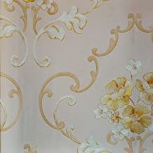 PVC Wallpaper Yellow-pink-beige53 cm x 10.05 m
