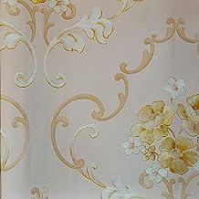 PVCWallpaper Yellow-pink-beige53 cm x 10.05 m