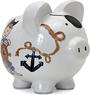 Child to Cherish Ceramic Piggy Bank for Boys, Pirate