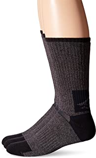 Men's All Season Boot Crew, Charcoal Black, Sock Size:10-13/Shoe Size: 6-12