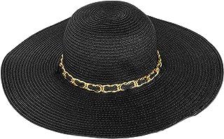 6ec2c81eb4baf Aerusi Mrs Wickman Women s Floppy Sun Hat with Chain Band