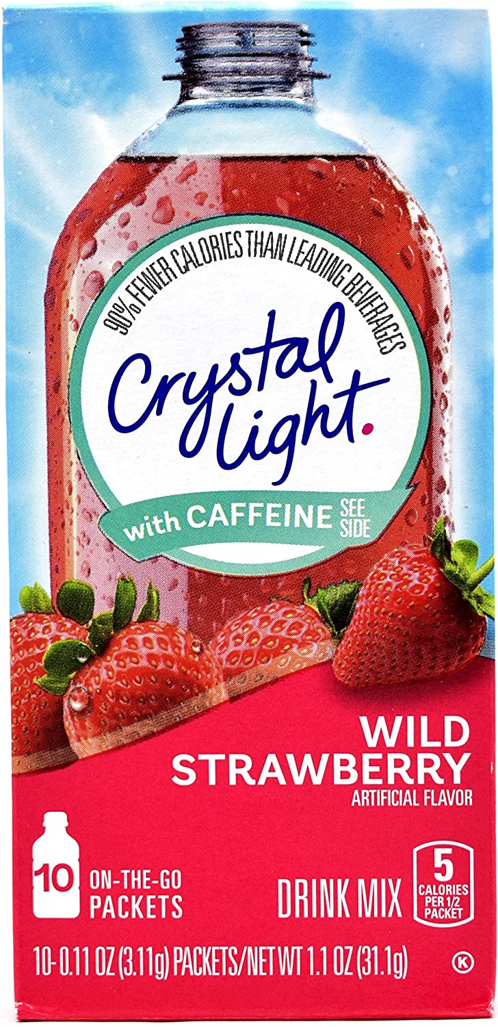 Crystal Light Save Tampa Mall money On The Go Wild Strawberry Drink With Caffeine Mix
