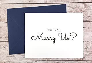 Will You Marry Us Card, Will you be our Officiant Card, Wedding Card (FPS0016)
