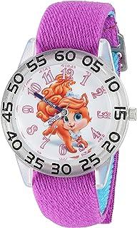 ساعة رياضية للبنات من ديزني كوارتز بلاستيك و نايلون – لون بنفسجي موديل W002840