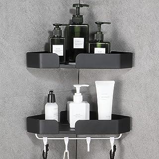 GERUIKE Shower Shelf Bathroom Shower Accessories Shower Storage Corner Bathroom Shelves No Drilling Rustproof Sand Blastin...