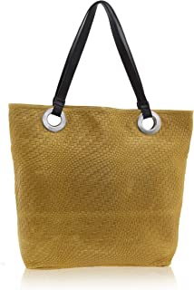 Chicca Borse - Shoulder Bag Borsa a Spalla da Donna Realizzata in Vera Pelle Made in Italy - 40 x 34 x 10 Cm
