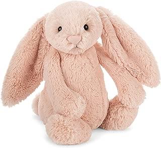 Jellycat Bashful Blush Bunny Stuffed Animal, Medium, 12 inches