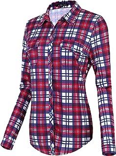 Dames geruit blouses met lange mouwen geruit blouse plaid shirt