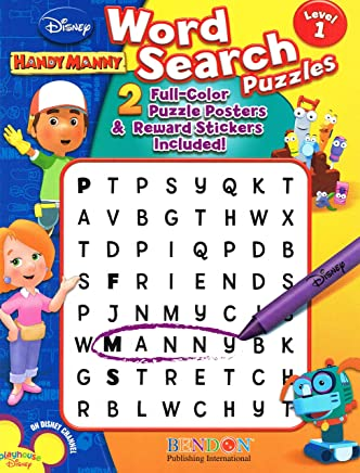 Disney Handy Manny Word Search Puzzles Level 1 by Bendon Publishing (2008) Paperback