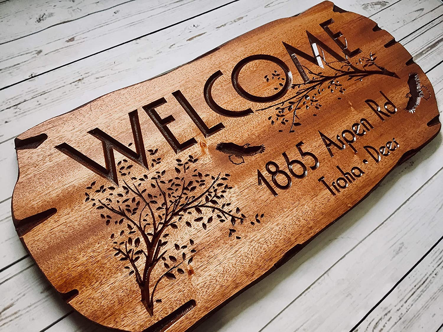 Personalized Dealing full price reduction Be super welcome Wooden Sign Address Family Welcome Cab Outdoor
