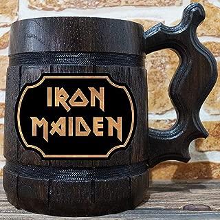 Iron Maiden Beer Mug, Iron Maiden Beer Stein, Music Gift, Personalized Beer Stein, Iron Maiden Tankard, Custom Gift for Men, Gift for Him