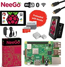 "Raspberry Pi 3 B+ (B Plus) Ultimate Kit – Complete Set Includes Raspberry pi Motherboard, 7"" Touchscreen Display, Power Su..."