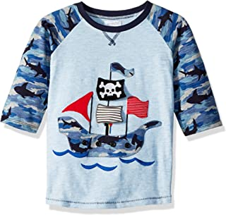 Baby Boys Pirate Ship Camo Long Sleeve Raglan T-Shirt