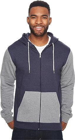 DC - Rebel Contrast Fleece Zip Hoodie