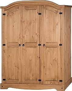 Mercers Furniture Corona 3-Door Arch Top Wardrobe